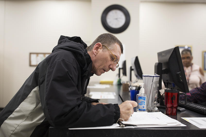Andrew Ostrowski, a Constitution Party candidate for St. Louis County executive, filed right before Tuesday's 5 p.m. deadline at the county's Board of Elections office in St. Ann.