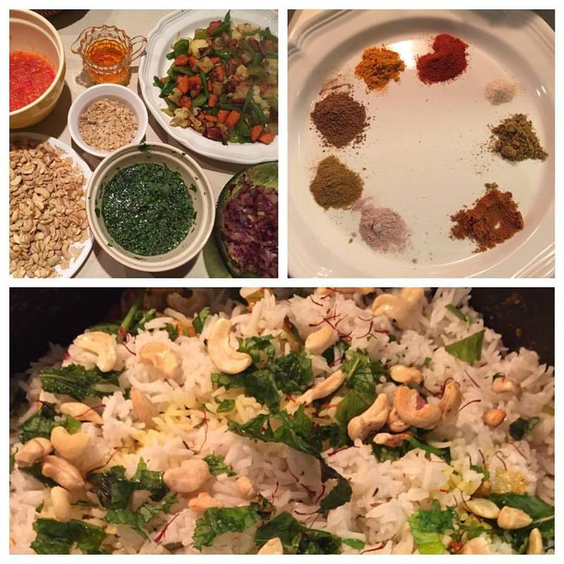 These are the ingredients that go into Madalyn Painter Talla's biryani, a rice dish.