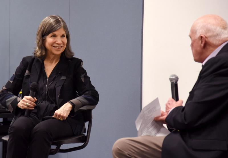 Anna Quindlen fields a question from Don Marsh during last week's event.