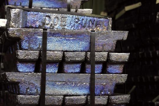 Lead blocks produced by the Doe Run Company.