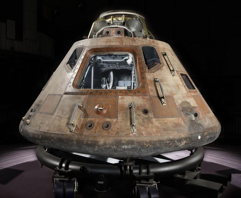 The Apollo 11 command module Columbia will be on display at the St. Louis Science Center.