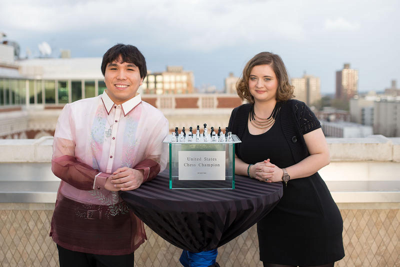 2017 U.S. Chess Champion, GM Wesley So and the 2017 U.S. Women's Chess Champion, Sabina Foisor.