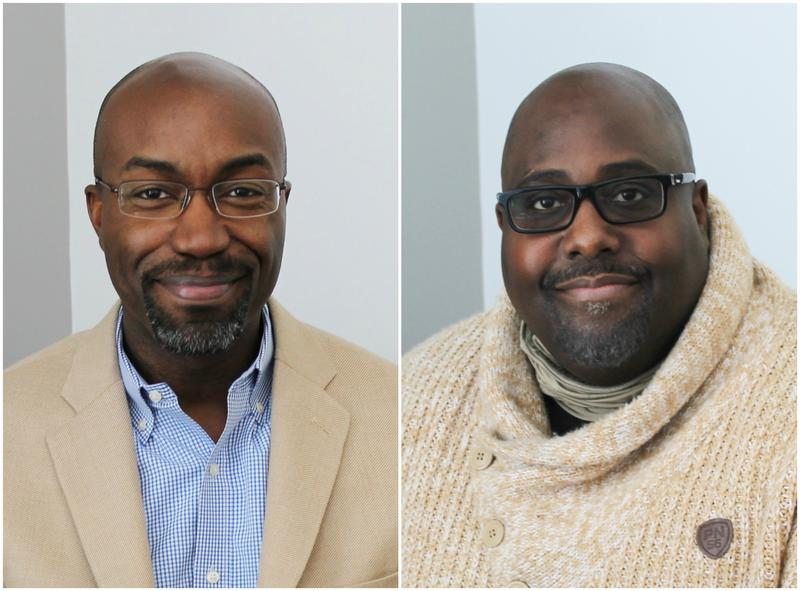 Jason Purnell (left) and Will Jordan (right) discuss current housing inequities in the St. Louis region.