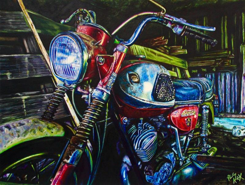 Alex Johnmeyers motorcycle painting is part of the