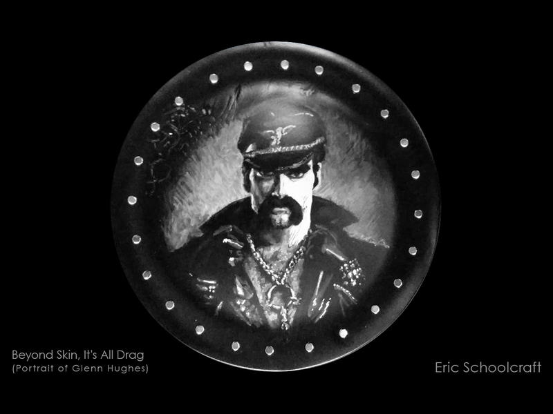 Artist Eric Schoolcraft has several pieces in the Metro Trans Umbrella Group art show including this rendering of Glenn Hughes from the Village People.