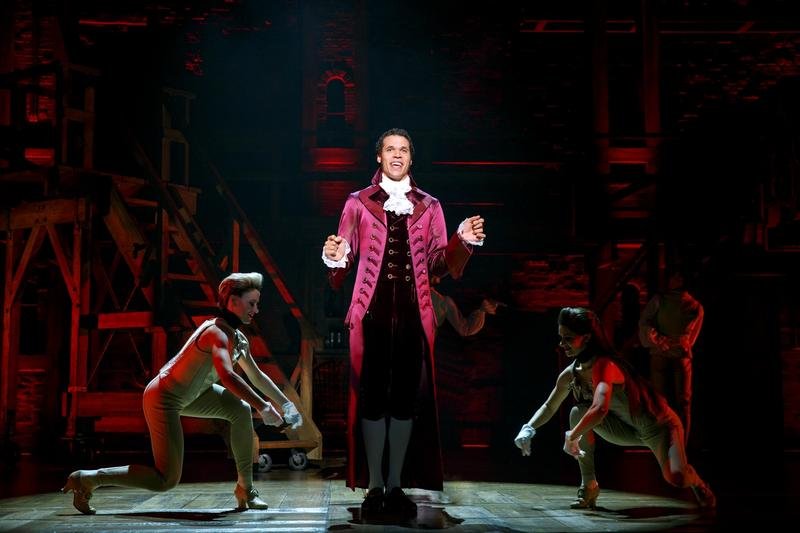Jordan Donica performs the role of Alexander Hamilton in this photo. Austin Scott is slated to play the role at The Fox.