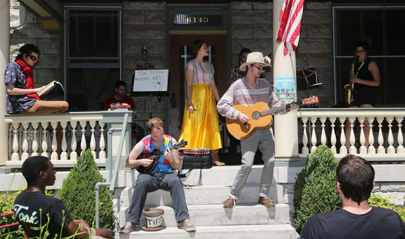 Local musicians perform at PorchFest STL in 2017. The event grew out of a partnership between Washington University students and the Skinker DeBaliviere Community Council.