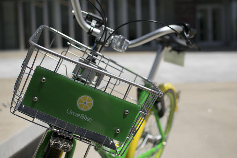 With both the LimeBikes (pictured) and Ofo bike share now rolling around the region, Tuesday's show focused on bike safety ahead of this week's National Bike to Work Day.