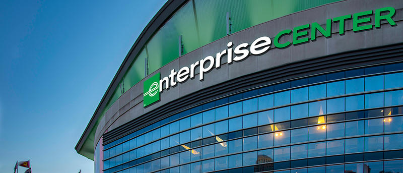 Enterprise is putting its name on an arena that is the site of approximately 100 events a year. The Blues also say the center attracts more than 1 million guests to downtown St. Louis annually.