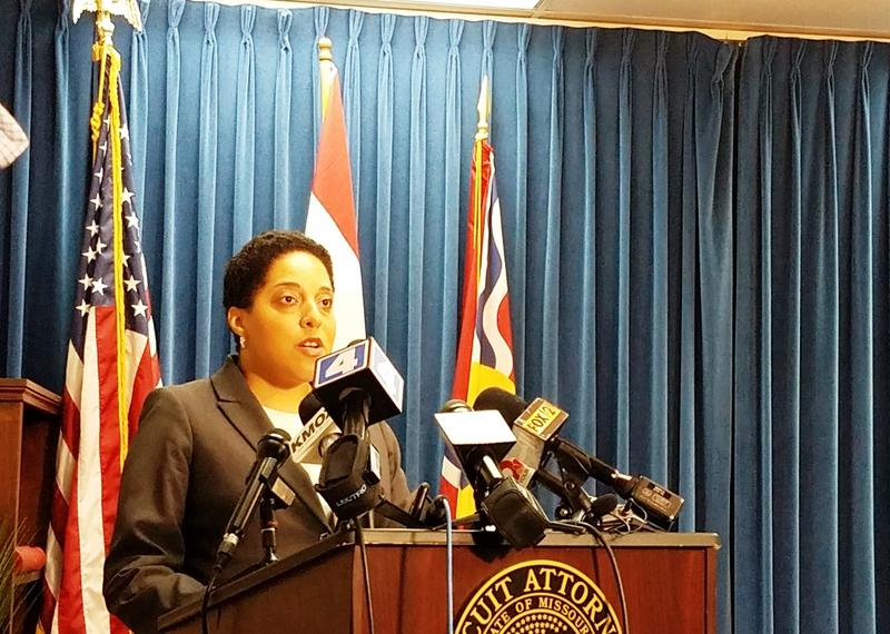 St. Louis circuit attorney Kim Gardner announces on May 30, 2018, that her office will drop a felony computer tampering charge against Gov. Eric Greitens.