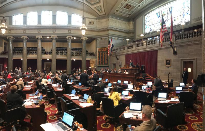 Lawmakers in the Missouri House work to pass legislation before the close of session Friday evening. May 16, 2018.