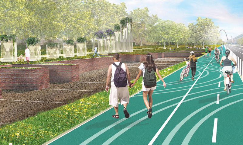 A rendering of Stoss' proposed plan.