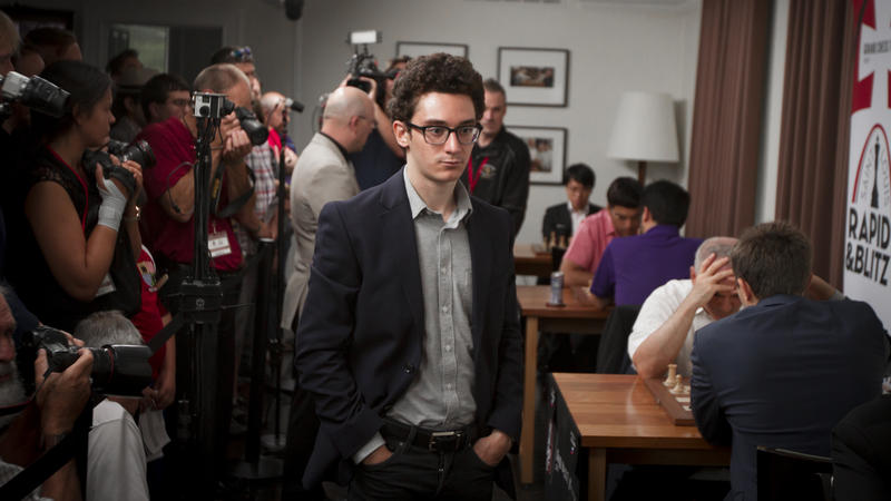 Grandmaster Fabiano Caruana and a large number of media outlets attended the St. Louis Rapid & Blitz tournament last year. May 16, 2018.