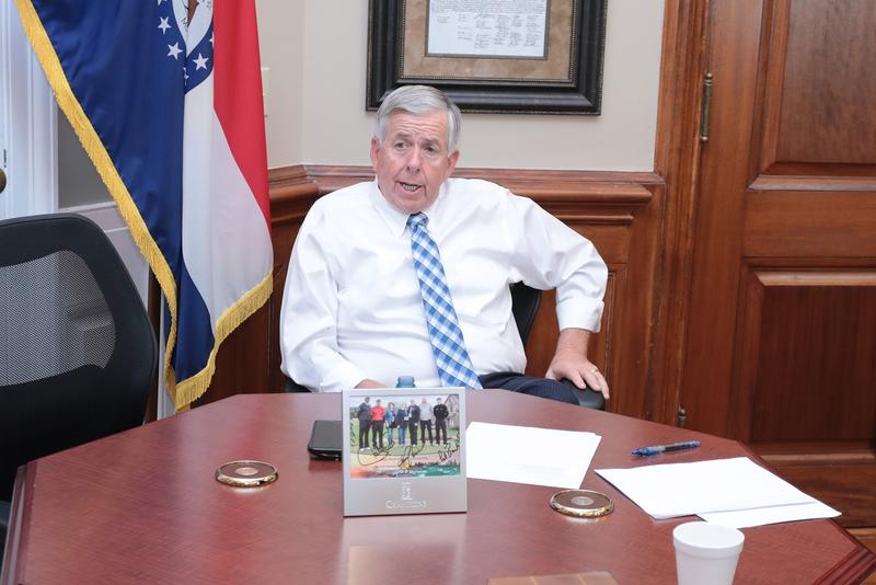 Missouri Lt. Gov. Mike Parson in his office on Wednesday, May 30, 2018; on Friday, he'll become the state's next governor.
