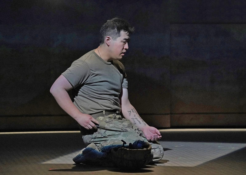 Andrew Stenson as Private Danny Chen, in the new opera