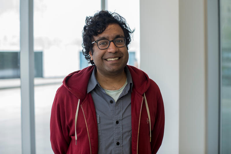 Hari Kondabolu at St. Louis Public Radio on Friday, May 4.
