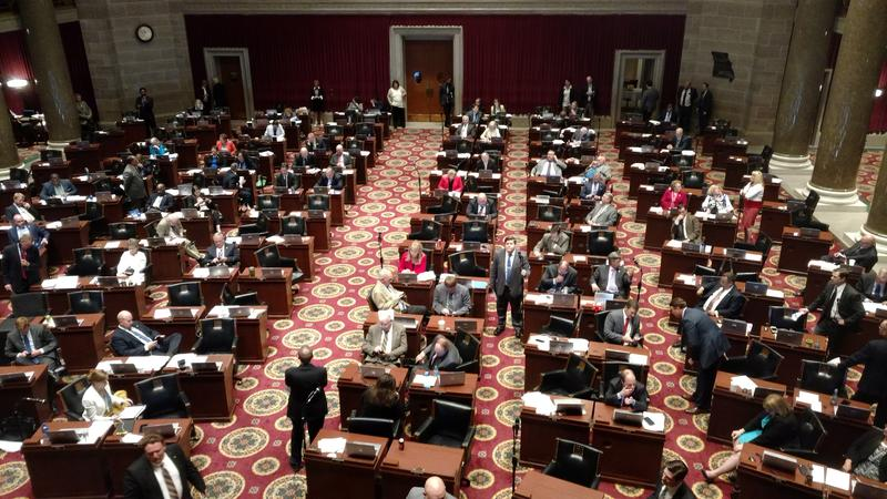 The Missouri House in the midst of debate late Tuesday, May 15, 2018.