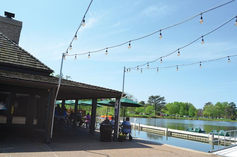 The Boathouse in Forest Park is one new restaurant featured on this month's Hit List.