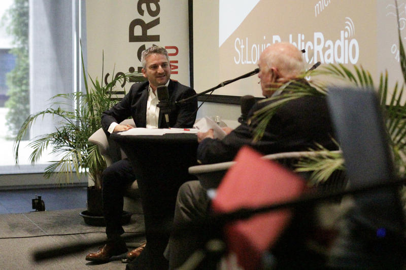 "On Wednesday's ""St. Louis on the Air,"" international journalist and St. Louis native Daniel Estrin (at left) talked with host Don Marsh in front of a live audience at St. Louis Public Radio."