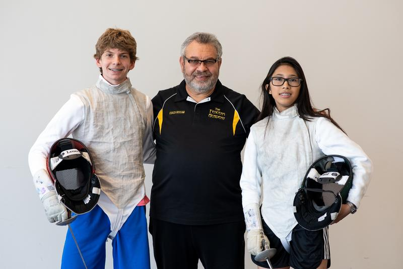 St. Louisans (from left) Bogdan Hamilton, Hossam Hassan and Daena Talavera each began fencing as young children.