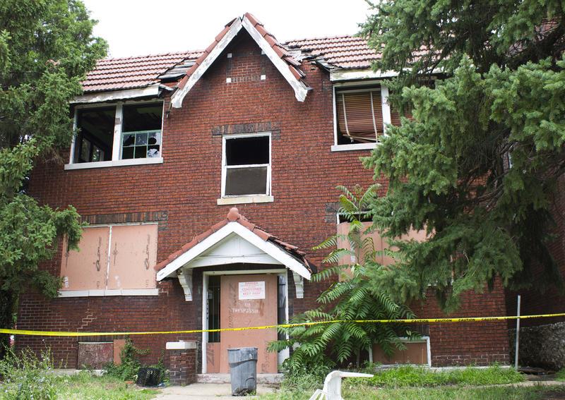 A team of volunteers will demolish five vacant homes in the JeffVanderLou neighborhood on June 30, 2018, including this home on Labadie Avenue.
