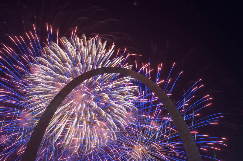Fireworks and Fair St. Louis returned to the Gateway Arch Wednesday, July 4, 2018, for Independence Day celebrations in St. Louis.
