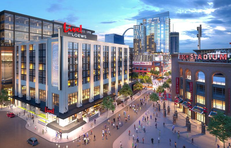 Construction began Tuesday July 10 for the Live! by Loews' Ballpark Village hotel. The hotel showed in a rendering here could be completed by February 2020.