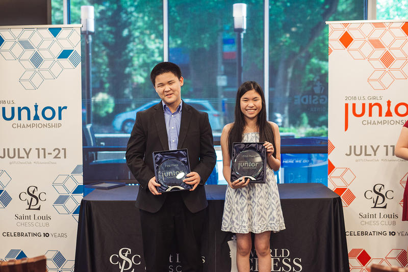 the 2018 U.S. Junior Champions, Awonder Liang and Carissa Yip.