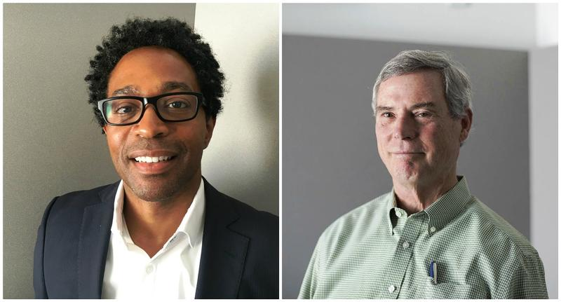 Ferguson City Councilman Wesley Bell, left, is challenging seven-term incumbent Bob McCulloch, right, in the Democratic primary for St. Louis County prosecutor.