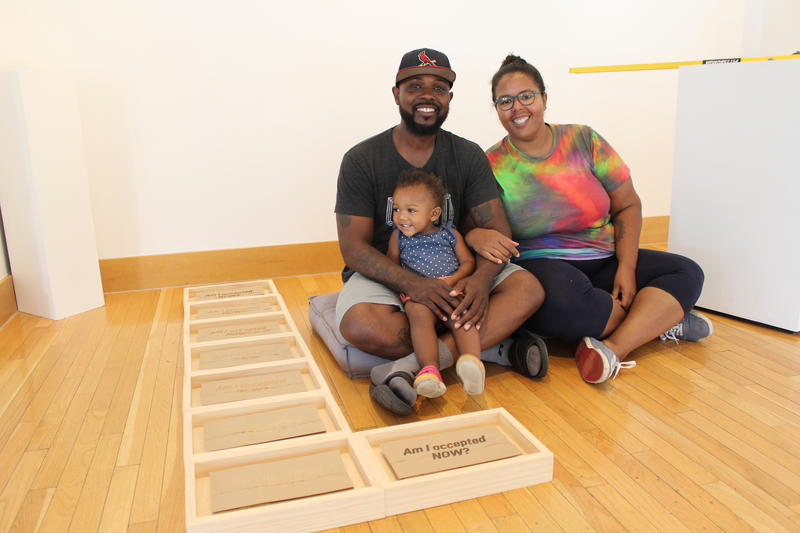 Kevin and Danielle McCoy, seen here with their daughter, Elle, posed an artistic response to their own experiences with colorism. 7/20/18