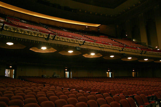The main theater at Peabody Opera House awaits its first performance in 20 years. Sept. 2011