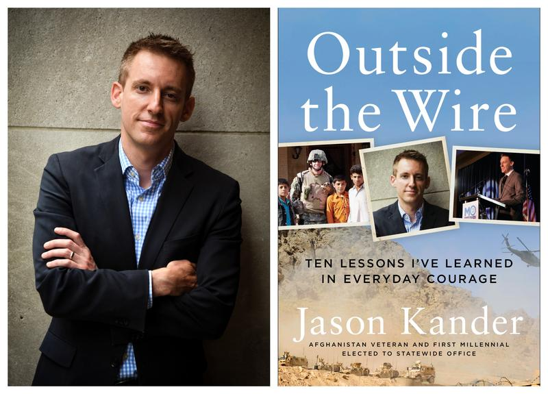 "Jason Kander traveled to St. Louis on Monday to promote his new book, ""Outside the Wire: Ten Lessons I've Learned in Everyday Courage."""