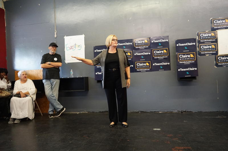 U.S. Sen. Claire McCaskill speaks at a campaign event on Friday, August 17, 2018, in Ferguson.
