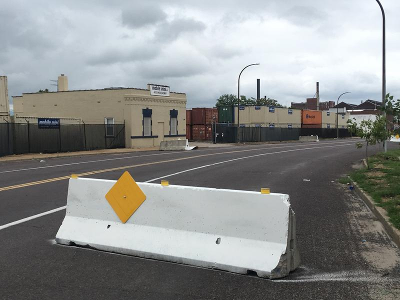 The St. Louis Street Department and the St. Louis Metropolitan Police Department are working together to install barriers along North Broadway to reduce cruising.