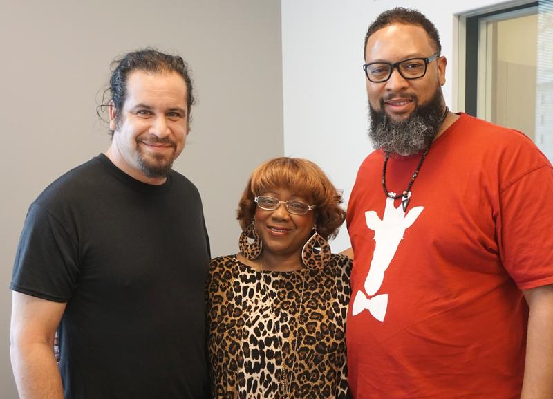 From left, Jeremy Segal-Moss, Renee Smith and Tracy Mitchell are all involved with the Big Muddy Blues Festival slated for this weekend.