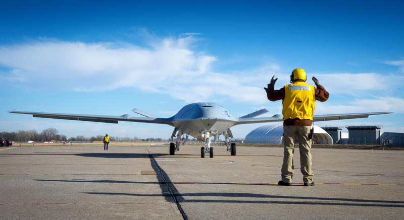 The tanker drone is also known as the MQ-25 Stingray.