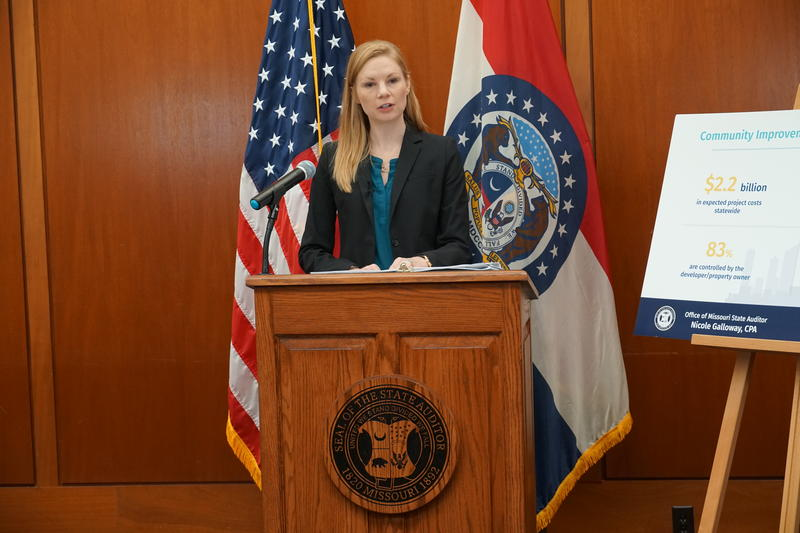 Missouri State Auditor Nicole Galloway releases audit of state's 400 Community Improvement Districts CIDs