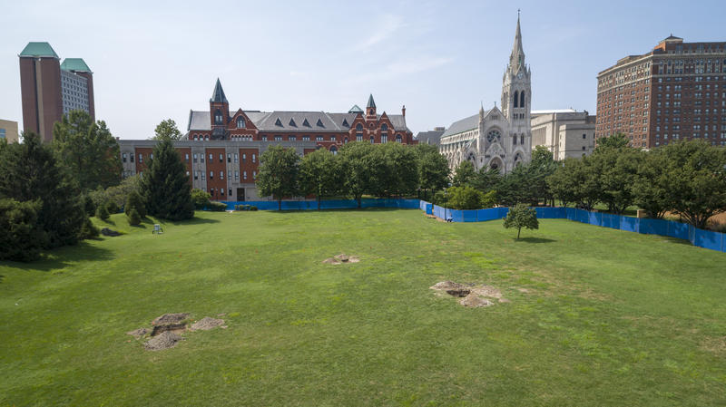 SLU students conduct archeological dig on campus before new center for science and engineering is built.