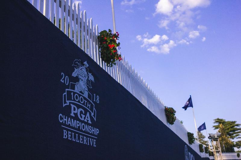 The 100th PGA Championship is taking place this week at Bellerive Country Club.