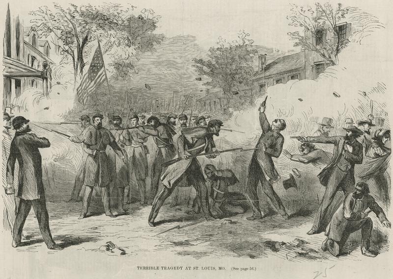 Camp Jackson riot 1861.