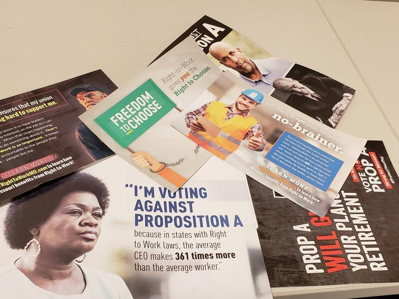 Area mailboxes are packed with Proposition A fliers, pro and con