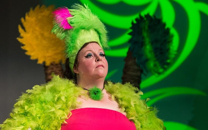 Jen Kerner plays a Bird Girl in Christ Memorial's 2016 production of Seussical.