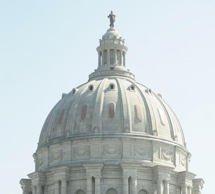 The dome of the Missouri Capitol, which includes a small, circular observation deck, is expected to reopen in early 2020.