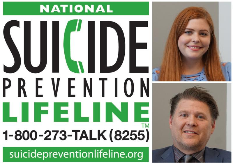 From top, Shelby Zurick and Bart Andrews are a part of St. Louis' efforts in suicide prevention.