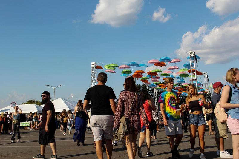 Festivalgoers explore LouFest 2017.