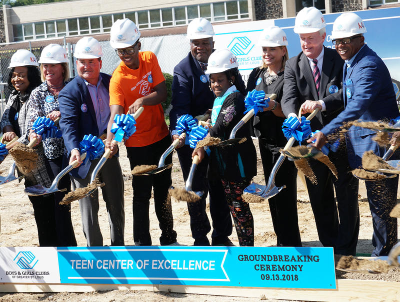 The Boys & Girls Club of St. Louis broke ground on the Teen Center of Excellence on September 13, 2018.