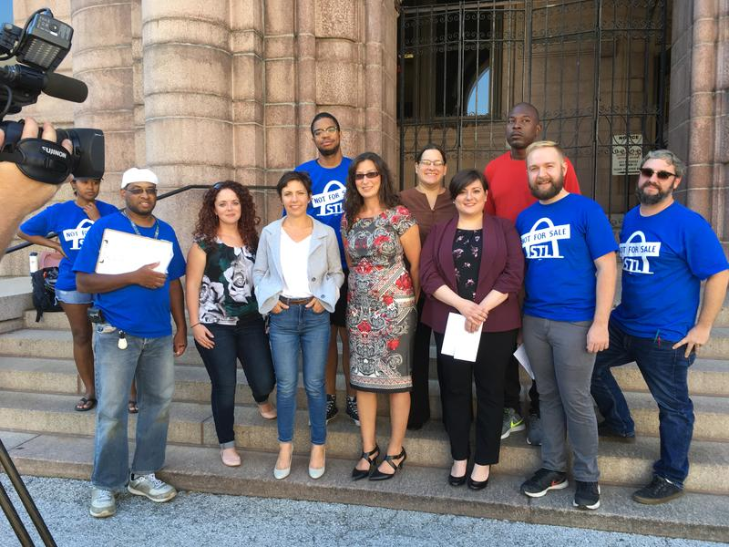 STL Not for Sale, grassroots group hold press conference at City Hall Sept. 13, 2018