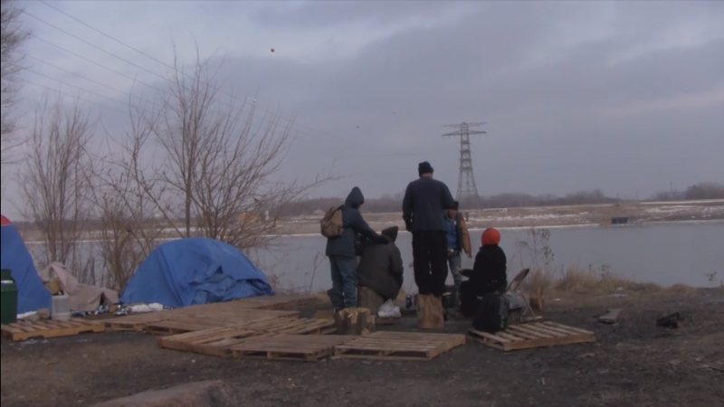"""Living In Tents"" chronicles an encampment of homeless people by the St. Louis riverfront. 9/27/18"