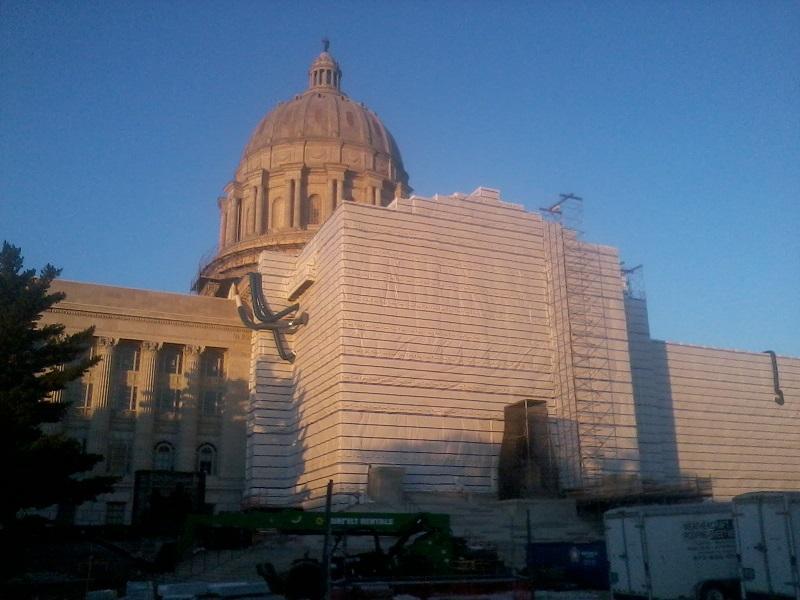 Missouri Capitol on Sept. 10, 2018, undergoing renovations.