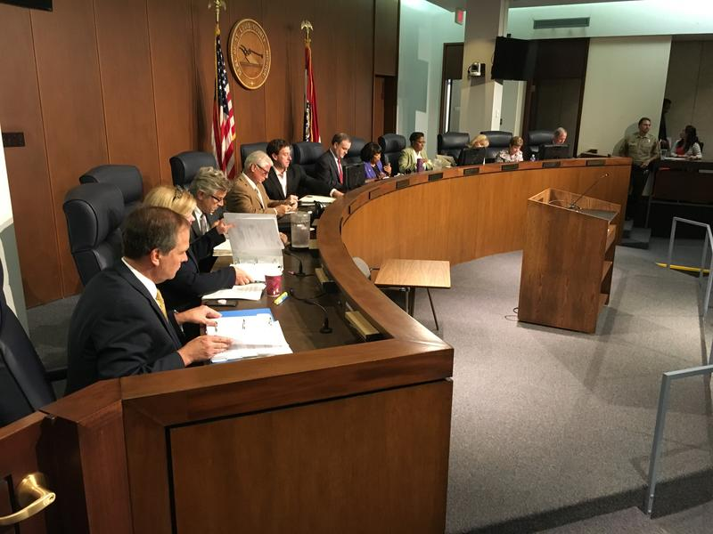 St. Louis County Council members meet on Oct. 2, 2018.